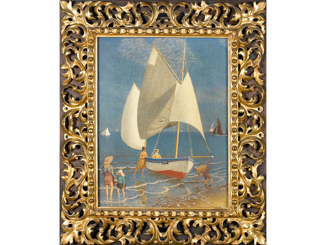 Joseph Edward Southall (British, 1861-1944) Sailing boats 45.7 x 35.5 cm. (18 x 14 in.)