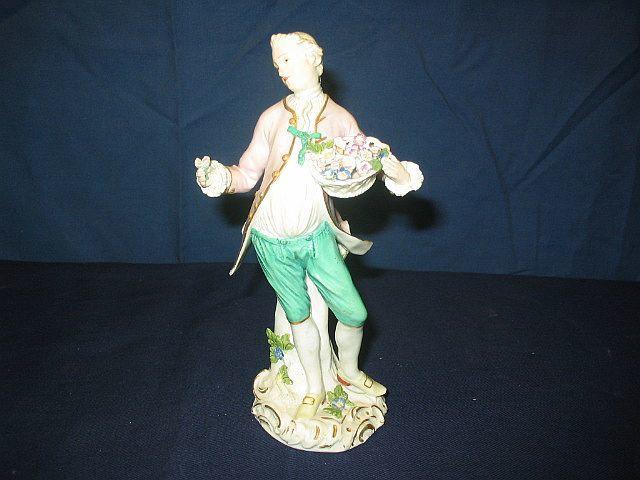 A Meissen figure of a gallant 18th Century,