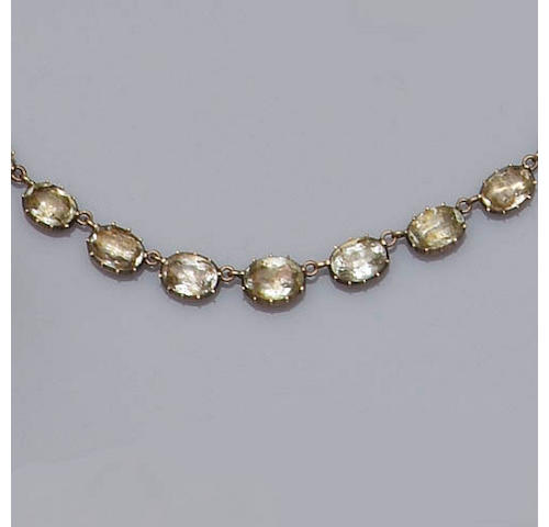 A colourless beryl riviére necklace