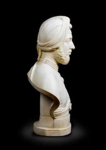 John Gibson RA A marble bust of Duleep Singh mid 19th Century