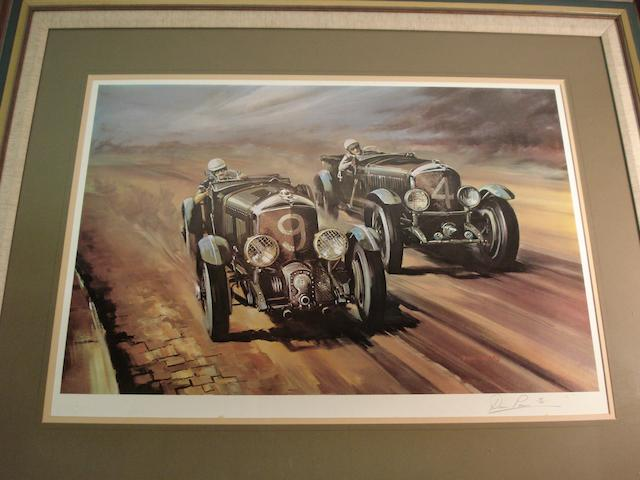 Dion Pears 'Bentley Blomer' signed print
