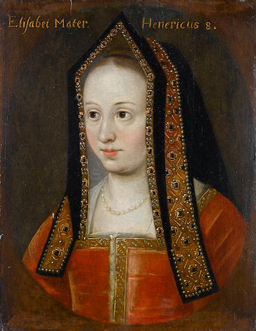 English School, 18th Century Portrait of Elizabeth of York, bust-length, 29.4 x 23.1 cm. (11½ x 9 1/