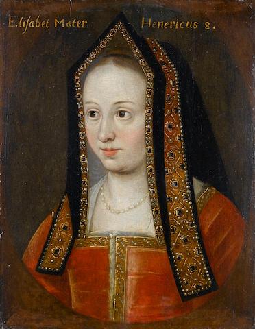 English School, 18th Century Portrait of Elizabeth of York, bust-length, 29.4 x 23.1 cm. (11½ x 9 1/8 in.) unframed