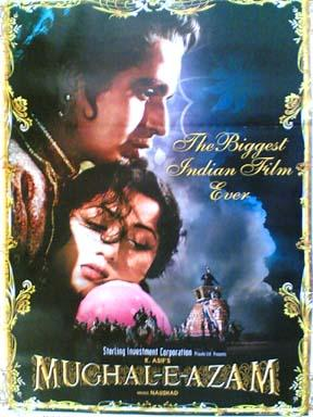 Mughal-E-Azam 1960 Re Release Indian Cinema Poster