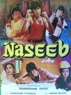 Naseeb 1981 Indian Cinema Poster