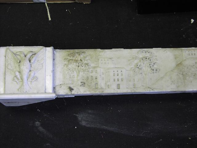 A 19th century Italian white marble chimneypiece