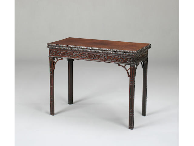 A George III style mahogany card table