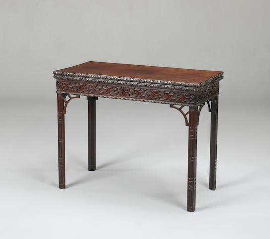 A George III style mahogany card table