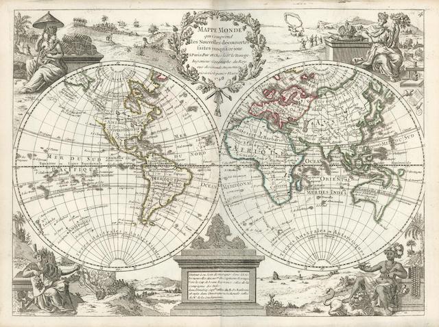 LE ROUGE (GEORGES LOUIS) Atlas noveau portatif, 2 vol.