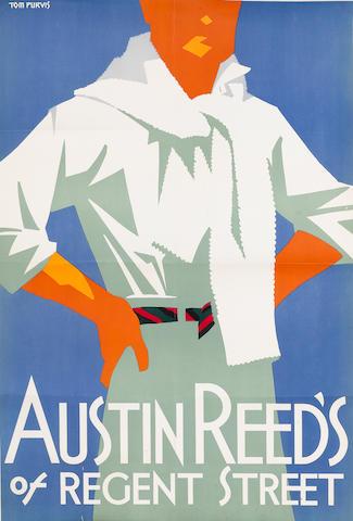 Bonhams Tom Purvis British 1888 1959 Austin Reed S Of Regent Street Circa 1926 760 X 510mm 30 X 20in Sh Condition B