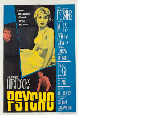 Psycho 1960 US One Sheet