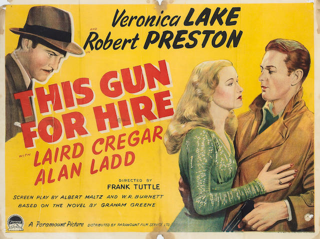 This Gun For Hire, 1942 UK Quad