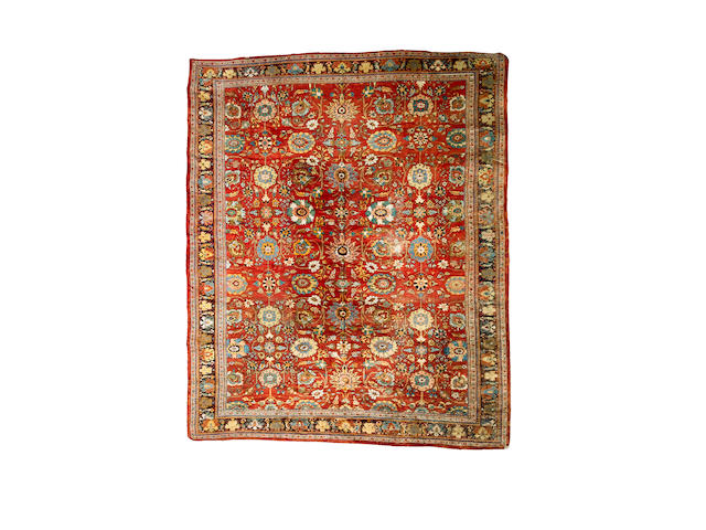 A Mahal carpet North West Persia, 17 ft 2 in x 14 ft 2 in (523 x 433 cm) some wear