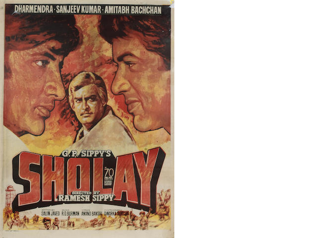 Sholay 1977 Indian Cinema Poster