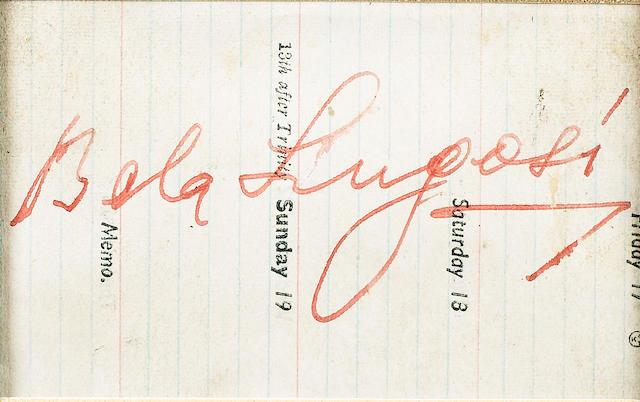 Dracula 1931 Autographs