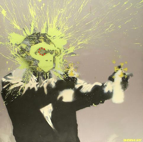 Banksy- self portrait large canvas
