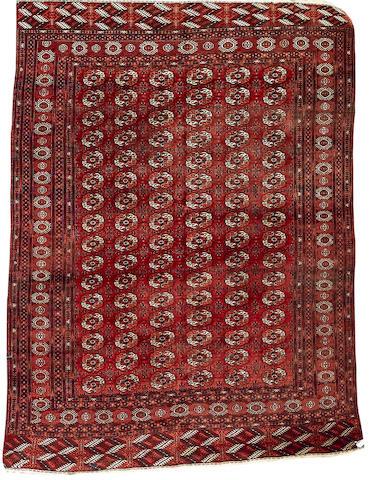 A Tekke carpet West Turkestan, 9 ft 8 in x 7 ft 1 in (295 x 216 cm)
