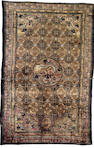 A Chinese silk and metal thread rug 7 ft 10 in x 5 ft (239 x 153 cm) some minor wear