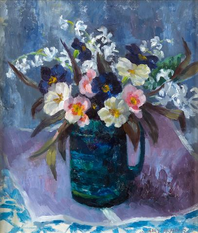 Mary Armour, RSA RSW (British, 1902-2000) Hyacinths and primulas