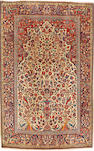 A pair of Kashan prayer rugs Central Persia, 213cm x 140cm