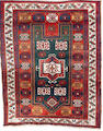 A Kazak prayer rug Central Caucasus, 5 ft 2 in x 4 in (158 x 122 cm) dated