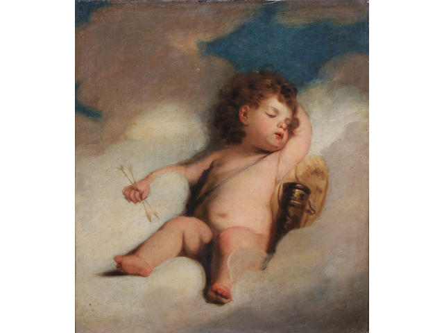 Manner of Sir Joshua Reynolds, PRA Cupid asleep