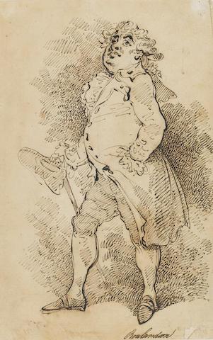Charles James Fox (1749-1806)Portrait by Thomas Rowlandson (British, 1756-1827)