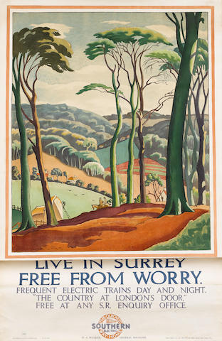 Ethelbert White (British, 1891-1972) Live in Kent and be Content & Live in Surrey Free from Worry 19