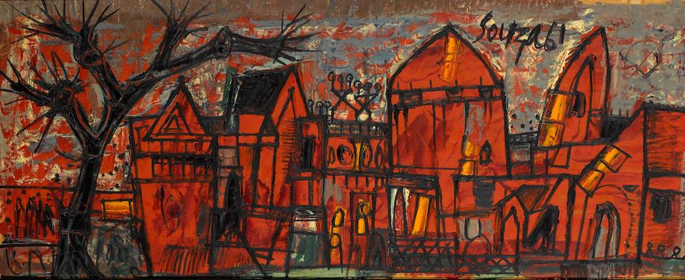 Francis Newton Souza (India, 1924-2002) Italian townscape