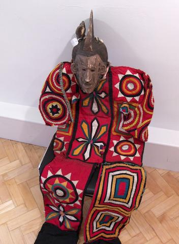 Three Igbo textile costumes and a pair of Igbo trousers Nigeria 4