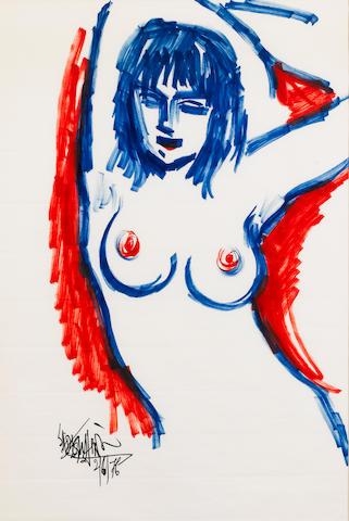 Sadequain (Pakistan, 1937-1987) Female Nude