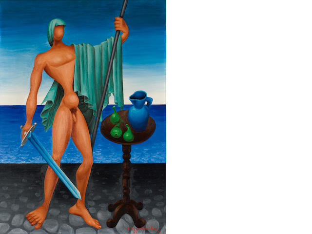 Nikos Engonopoulos (Greek, 1910-1985) Hero (Philopoemen) 70 x 50 cm.