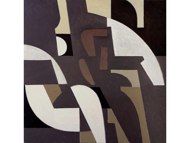 Yiannis Moralis (Greek, b.1916) West side Room 130 x 130 cm.
