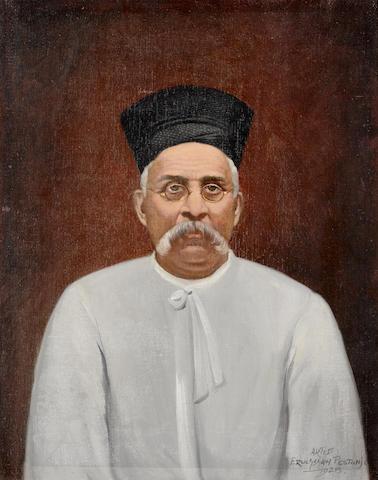 Eruchshaw Pestonji (India, first half of the 20th Century) Portrait of a Parsi Gentleman (2)