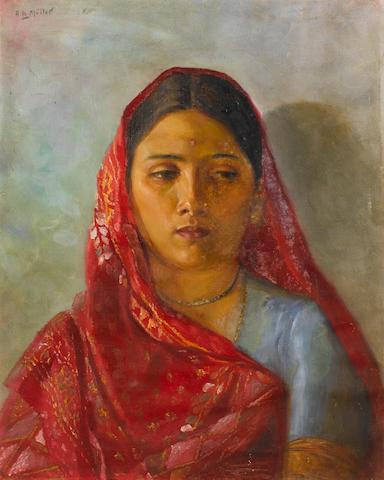 Archibald Herman Muller (German, 1878-1952) Portrait of a woman