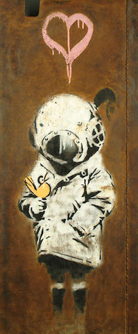 Banksy (British, b.1975) Space girl and bird