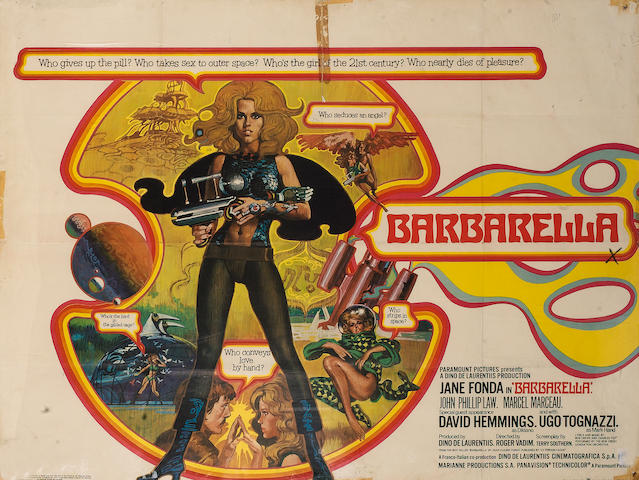 Barbarella 1968 UK Quad Style A