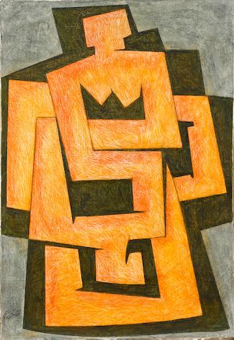 Sadequain (Pakistan, 1937-1987) Red Figure