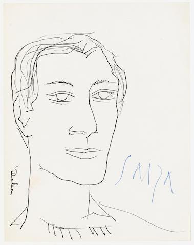 Francis Newton Souza (India, 1924-2002) Portrait of a Man