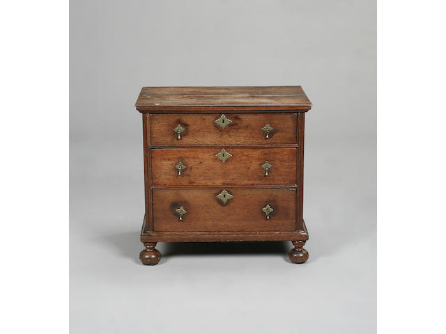 An early 18th century oak chest