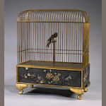 A large singing bird automaton,  probably French, 1920's,