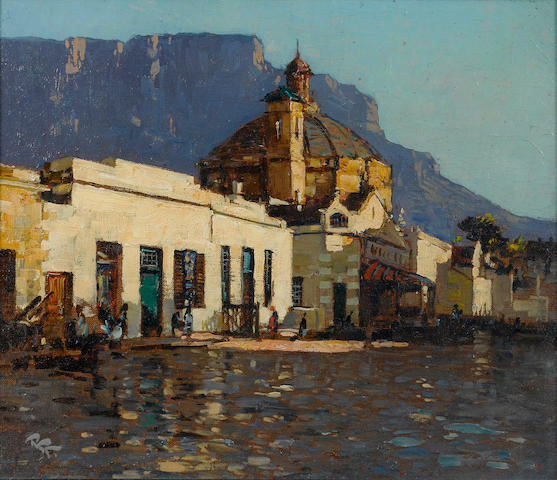 (n/a) Alfred Neville Lewis (South African, 1895-1972) Cape Town after rain 30.5 x 35.5 cm. (12 x 14 in.)