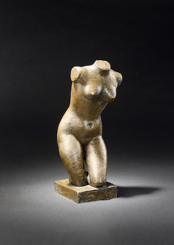 Frank Dobson R.A. (1888-1963) Kneeling torso 46 cm. (18 in.) high