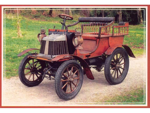 1900 Argyll 5hp Spindle Seat Rear Entrance Tonneau  Chassis no. 106 Engine no. 1140
