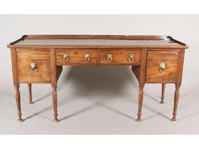 An early 19th century Irish mahogany rectangular sideboard