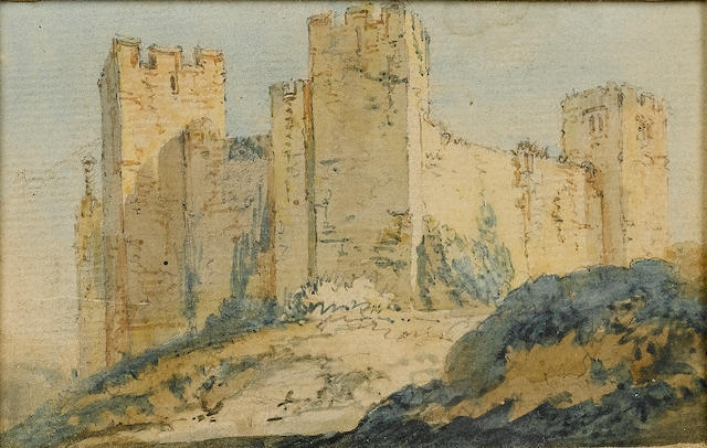 Thomas Girtin (British, 1775-1802) A view of a castle