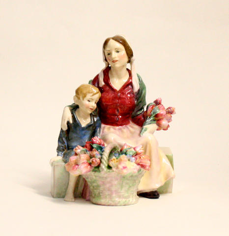 Figurines A Royal Doulton figure The Little Mother