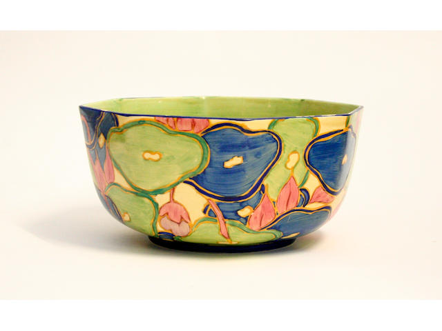 A Clarice Cliff 'Blue Chintz' fruit bowl