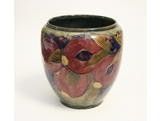 A large Moorcroft 'Pomegranate' vase, circa 1920