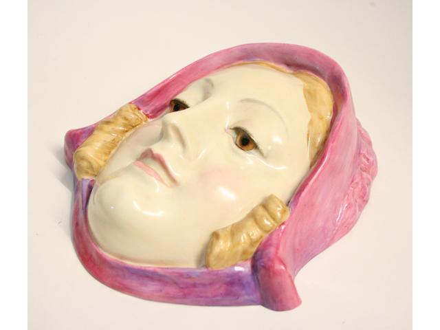 A Royal Doulton 'Sweet Anne' wall mask